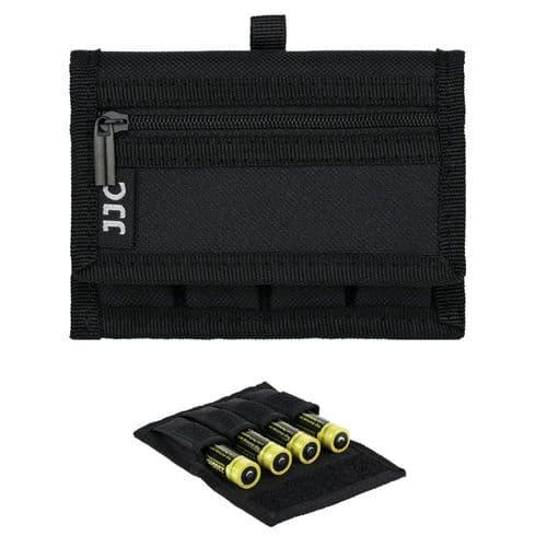 Pochette Pour 4X Batterie 18650 Et 2X Carte Mémoire Flash Sd Avec Mousqueton